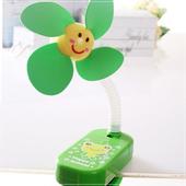 《魔法Baby》嬰兒推車用可愛造形安全夾飾風扇(綠青蛙)
