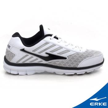 ERKE 爾克 男運動綜訓慢跑鞋 正白/正黑(40號)