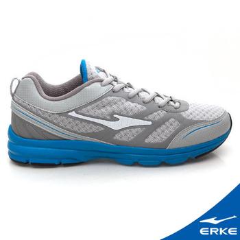 ERKE 爾克 男運動常規慢跑鞋 淺灰/純青藍(40號)