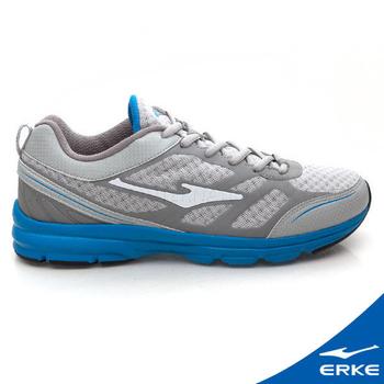 ERKE 爾克 男運動常規慢跑鞋 淺灰/純青藍(42號)