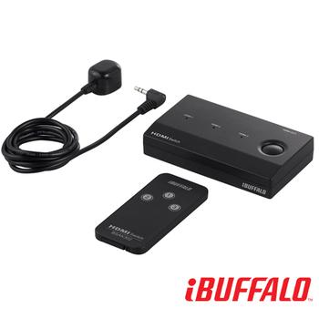 BUFFALO HDMI 3進1出 影音切換器(黑)