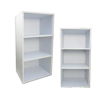 《DESIGN》厚板三層櫃2入(白色)
