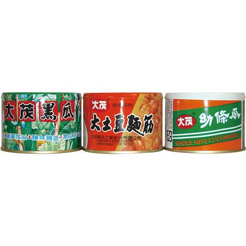 《大茂》三寶(土豆麵筋+黑瓜+幼條瓜)(170gx3罐/組)