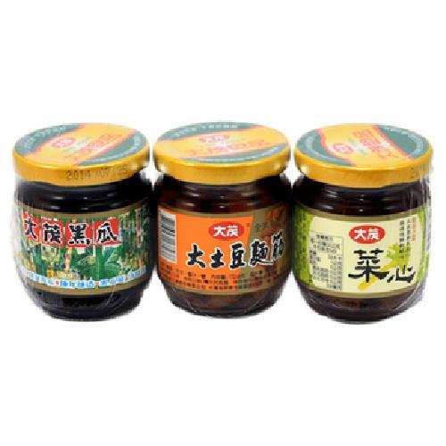《大茂》三合一(黑瓜+土豆麵筋+菜心)(170g*3瓶/組)