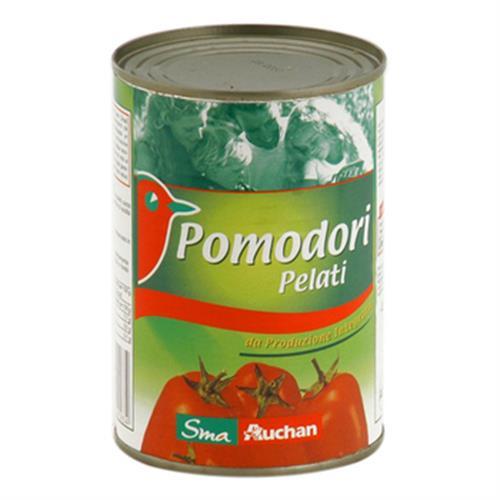 Auchan 義大利剝皮番茄(400g/罐)