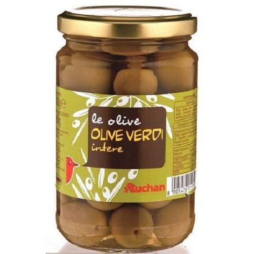 Auchan 義大利綠橄欖(300g/瓶)