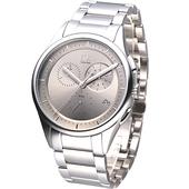 《Calvin Klein》經典紳士風三眼計時腕錶K2A27126
