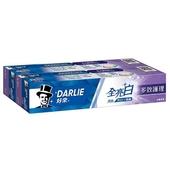 《黑人》全亮白多效護理牙膏(140g x 2入/組)黑人全系列滿249送收納袋*1