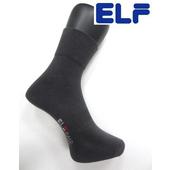 《ELF》純棉寬口休閒襪-耐磨型黑/