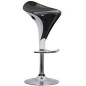 《E-Style》雙色精緻流線型ABS高腳椅/吧台椅-2入/組(黑+白)