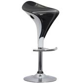 《E-Style》雙色精緻流線型ABS高腳椅/吧台椅-1入/組(黑+白)