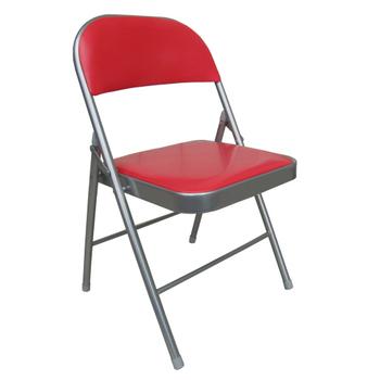 重型超厚椅座折疊椅4入(紅色)