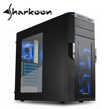 sharkoon旋剛 捍衛者Pro 2 電腦機殼(藍光)
