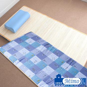 米夢家居 熱烘棉單人床墊+記憶枕(花色隨機出貨)