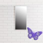 《BuyJM》時尚鋁合金框壁鏡-高60cm(銀色)