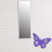 《BuyJM》時尚鋁合金框壁鏡-高90cm(銀色)