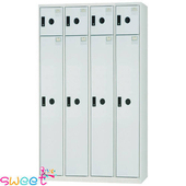 《SWEET》KL多用途4*6尺置物櫃~4大門4小門(灰)