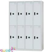 《SWEET》KL多用途4*6尺全鋼製置物櫃~8人(灰)