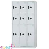 《SWEET》DF多用途置物櫃~3大門6小門(灰)