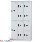 《SWEET》DF多用途置物櫃~2大門8小門(灰)