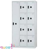 《SWEET》DF多用途置物櫃~1大門8小門(灰)