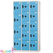 《SWEET》DF多用途置物櫃~4大門10小門(藍)