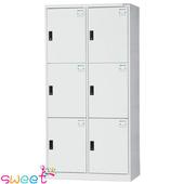 《SWEET》HDF多用途全鋼製置物櫃~6人(灰)