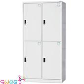 《SWEET》HDF多用途全鋼製置物櫃~4人(灰)