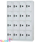 《SWEET》KL多用途4*6尺置物櫃~16格(灰)