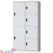 《SWEET》HDF多用途全鋼製置物櫃~2+4格(灰)