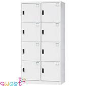 《SWEET》HDF多用途全鋼製置物櫃~8格(灰)