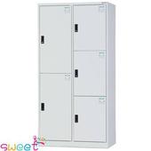《SWEET》HDF多用途全鋼製置物櫃~2+3格(灰)