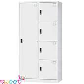 《SWEET》HDF多用途全鋼製置物櫃~1大4小格(灰)