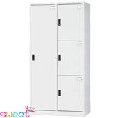 《SWEET》HDF多用途全鋼製置物櫃~1大3小格(灰)