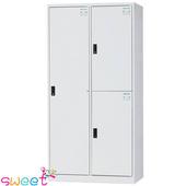 《SWEET》HDF多用途全鋼製置物櫃~3格(灰)