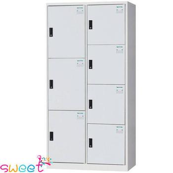 《SWEET》HDF多用途全鋼製置物櫃~3+4格(灰)