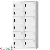 《SWEET》HDF多用途全鋼製置物櫃~12格(灰)