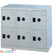 《SWEET》MC多用途高級置物櫃~6大門(灰)