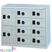 《SWEET》MC多用途高級置物櫃~8小2大門(灰)