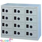 《SWEET》MC多用途高級置物櫃~12小門(灰)