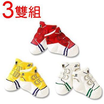 可愛《運動鞋款》假鞋襪~短襪 ((3雙組))(12-15CM)