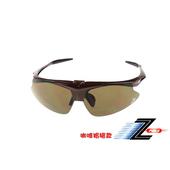 《Z-POLS》可掀可配度設計頂級茶色PC防爆鏡片搭載 UV400運動眼鏡!送原廠掛勾盒(咖啡褐框款)