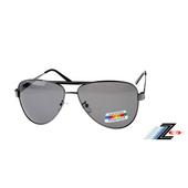 《Z-POLS》輕量金屬大框復古頂級寶麗來偏光鏡片太陽眼鏡(黑色偏光款)