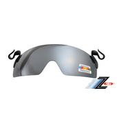 《Z-POLS》多層膜電鍍夾帽式100%偏光抗UV400可掀太陽眼鏡(帥氣電鍍水銀黑款)