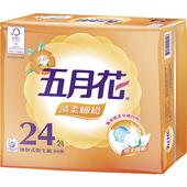 《五月花》清柔抽取式衛生紙(100抽*24包/袋)