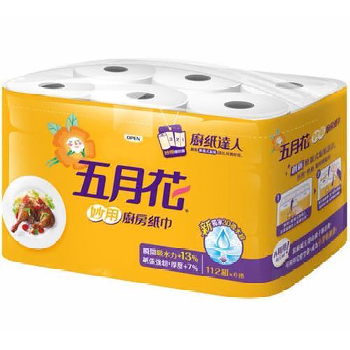 五月花 妙用廚房紙巾(112張*6捲/袋)
