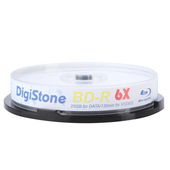 《DIGISTONE》國際版 A+ 藍光 Blu-ray 6X BD-R 25GB(支援CPRM/BS) x10PCS