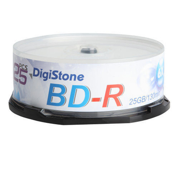 《DIGISTONE》國際版 A+ 藍光 Blu-ray 6X BD-R 25GB(支援CPRM/BS) x25PCS