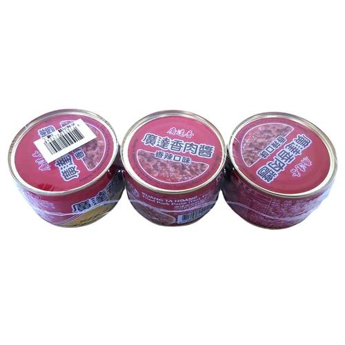 《廣達香》香辣肉醬(160g*3罐/組)
