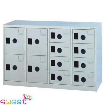 《SWEET》MC多用途高級置物櫃~4大8小門(灰)